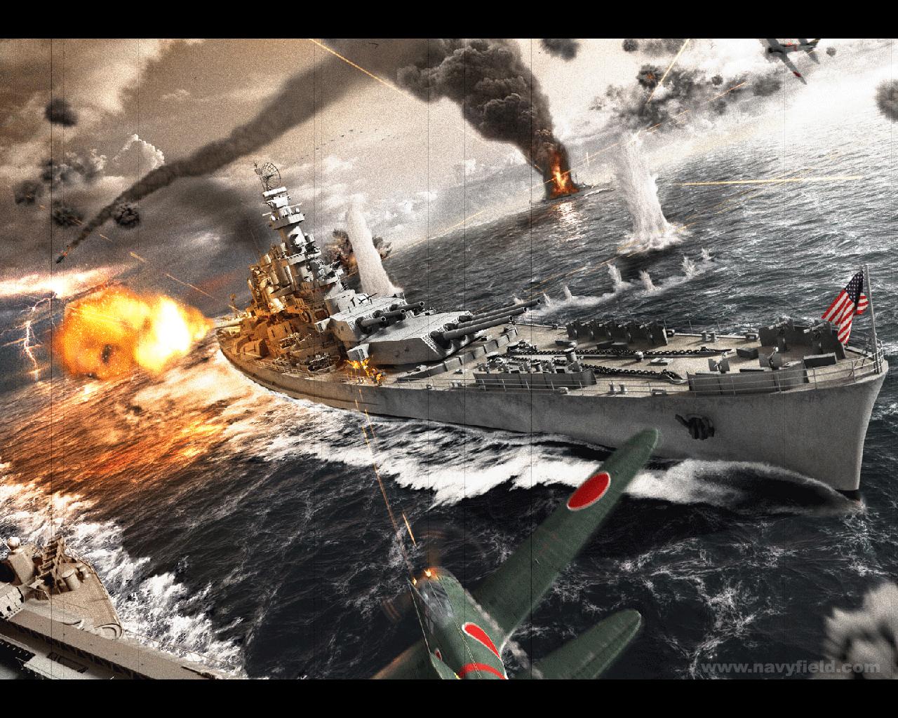 Navy Field Wallpaper