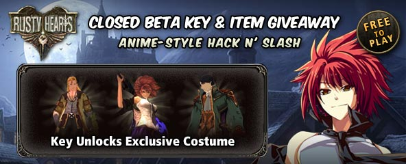 Rusty Hearts Beta key and Exclusive Item Giveaway