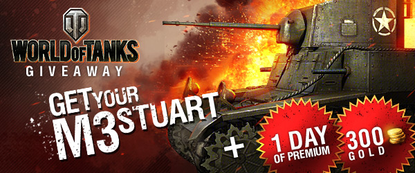 World of Tanks M3 Stuart Giveaway