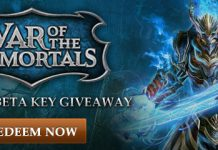War of the Immortals Closed Beta Key Giveaway 1
