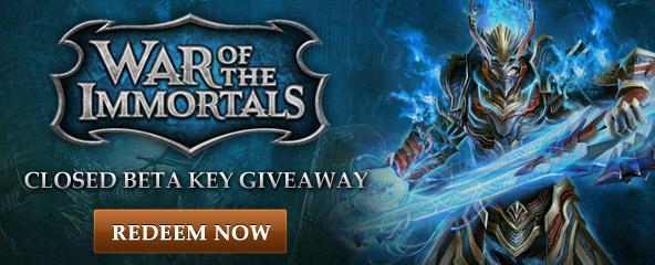 War of the Immortals Closed Beta Key Giveaway