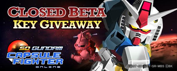 SD Gundam Capsule Fighter Online Closed Beta key Giveaway