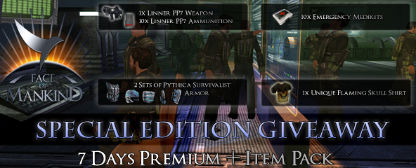 Face of Mankind 7 Days Premium and Item Pack giveaway