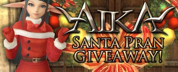 Aika Online Santa Pran Giveaway