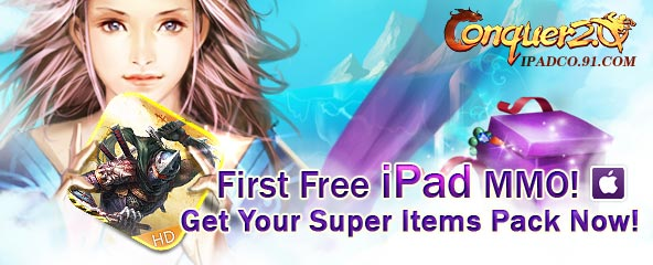 Conquer Online Ipad Super Item Pack Giveaway