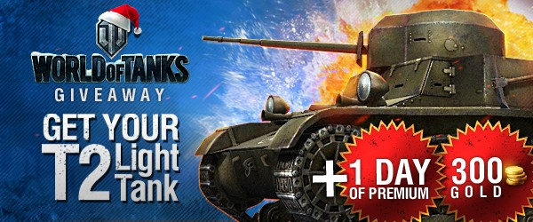 World of Tanks T2 Light Tank and Gold code key Giveaway
