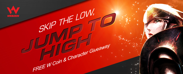 Free W Coin & High-Leveled Characters Giveaway
