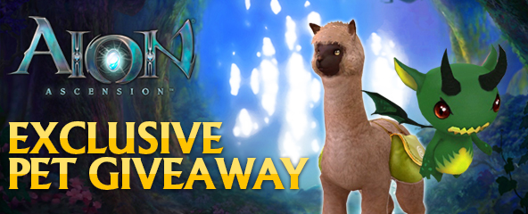 Aion Ascension Exclusive Pet Giveaway