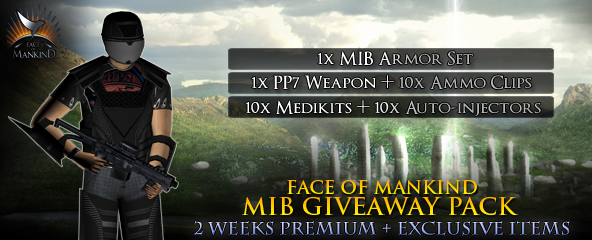 Face of Mankind MIB Item Pack giveaway