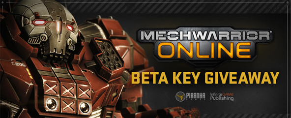 MechWarrior Online Closed Beta Key Giveaway