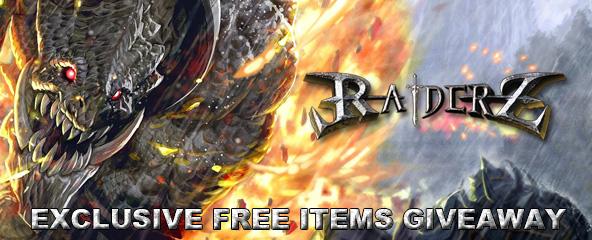 RaiderZ Free Items Giveaway