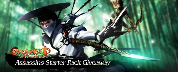 Conquer Online Assassin Starter Pack Giveaway