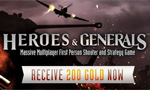 Heroes & Generals Free Gold Giveaway