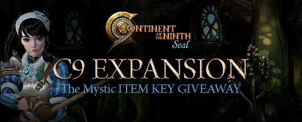 C9 The Mystic Item Key Giveaway
