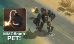 MMOBomb mascot was revealed as a pet character in the game AirMech, and looks so awesome!