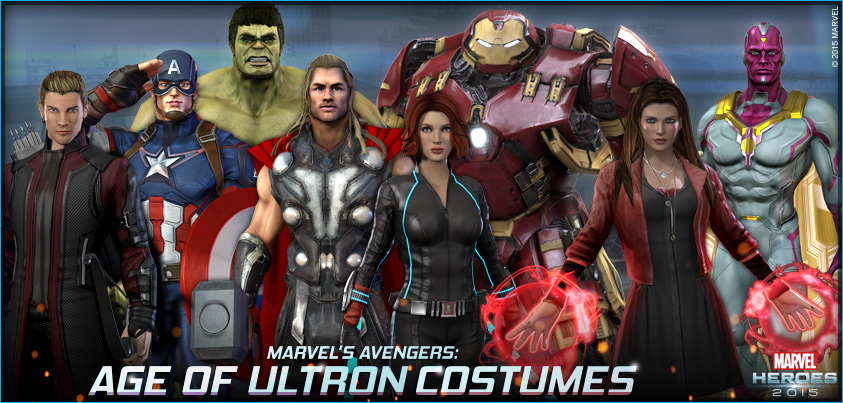 Marvel Heroes Celebrates Age Of Ultron With Movie-Themed Costumes, Free Avengers, New Game Modes ...