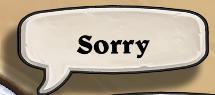 Hearthstone sorry