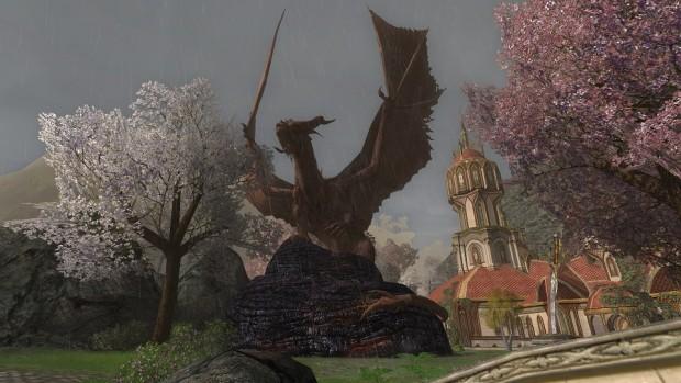 LOTRO dragon statue