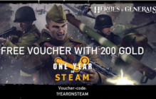 Heroes & Generals Celebrates 1 Year On Steam With Free Gold