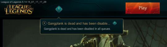 Gangplank dead