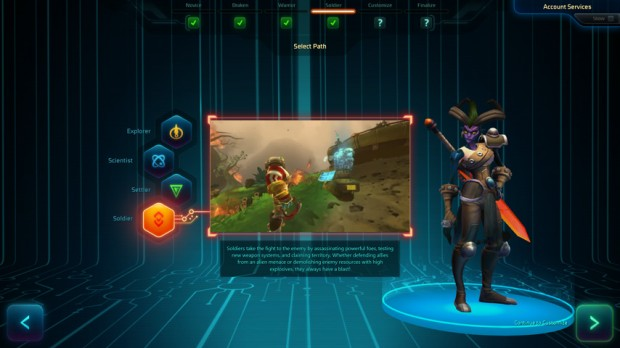 Wildstar Path Selection