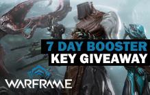 Warframe Booster Key Giveaway
