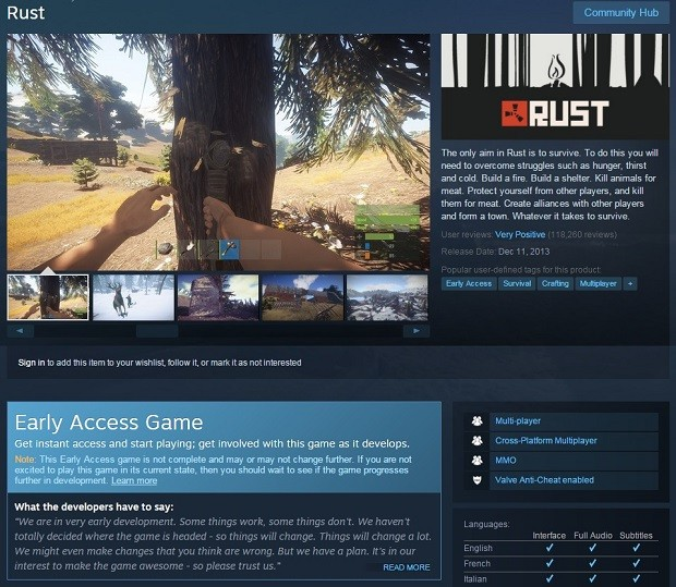 Early Access Rust