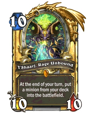 Hearthstone YShaarj card