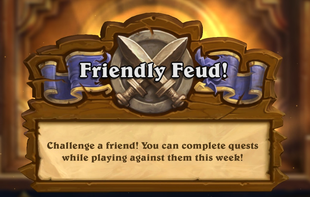 Hearthstone Offers Quest Rewards For Matches Against Friends