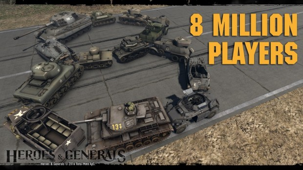 Heroes and Generals 8 Million