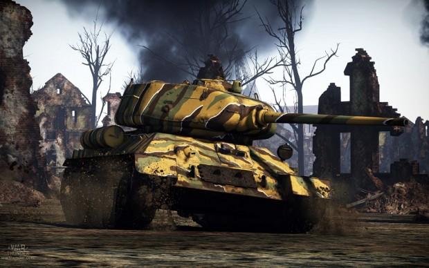 War Thunder camo tank