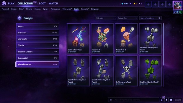 Heroes of the Storm collection