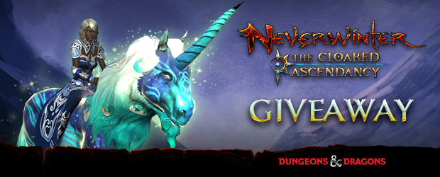 Neverwinter Cloaked Ascendancy Unicorn Mount Giveaway (PS4