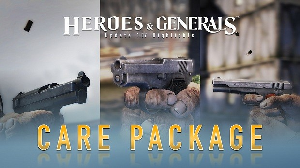 Heroes Generals Care Package Pistols