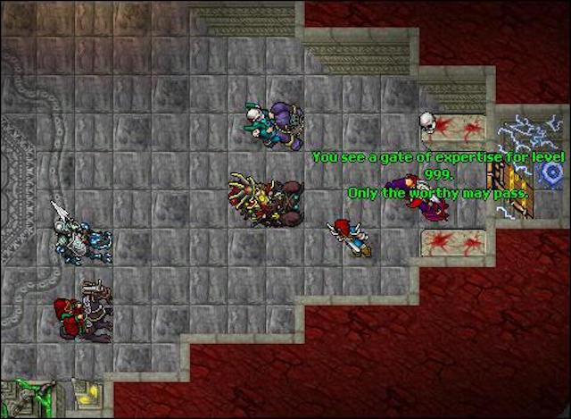 tibia player holding contents of mysterious level 999 door On door 999 tibia