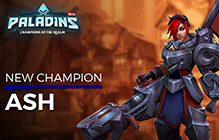 Paladins Ash Champion and Skin Giveaway