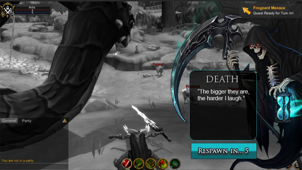 AdventureQuest 3D Invites The Reaper To Haunt Spawn Points - MMO Bomb