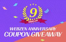 Webzen's 9th Anniversary Code Giveaway