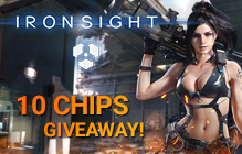 Ironsight 10 CHIPS Gift Key Giveaway