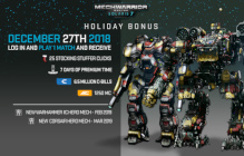 MechWarrior Online Launches Holiday Bonus Event Today