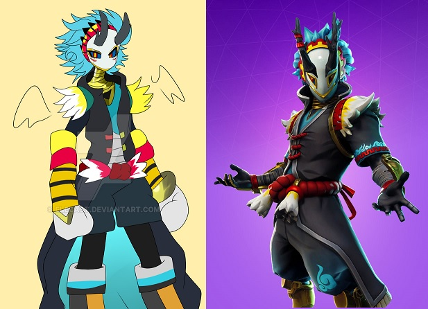 epic accused of stealing art for fortnite skin but it looks like a scam - fortnite deviantart