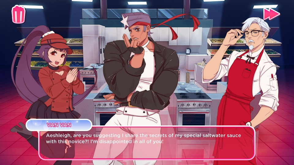 Burger dating sim