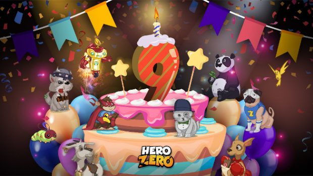 Hero Zero Turns Nine Events And New Sidekicks Up For Grabs Mmo Bomb
