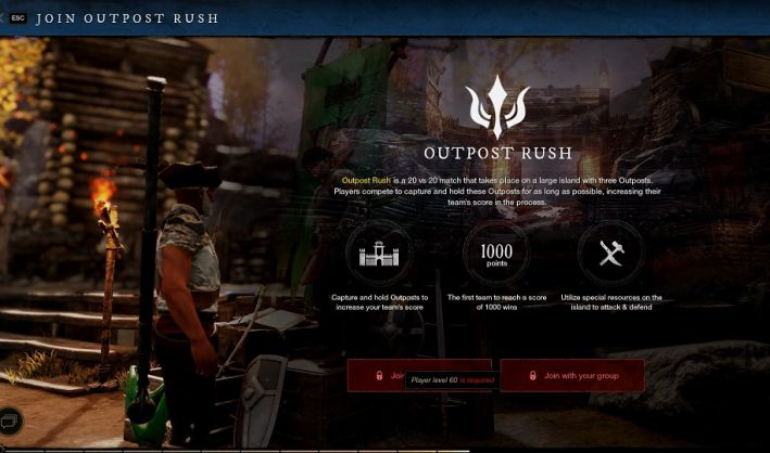 Rush to the New World Outpost